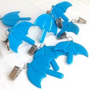 COPY - Blue Umbrella Tablecloth Weights, Set of 4